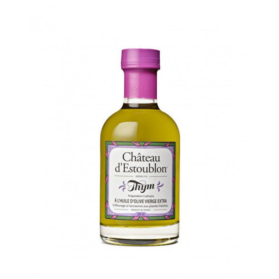 Huile d'olive thym