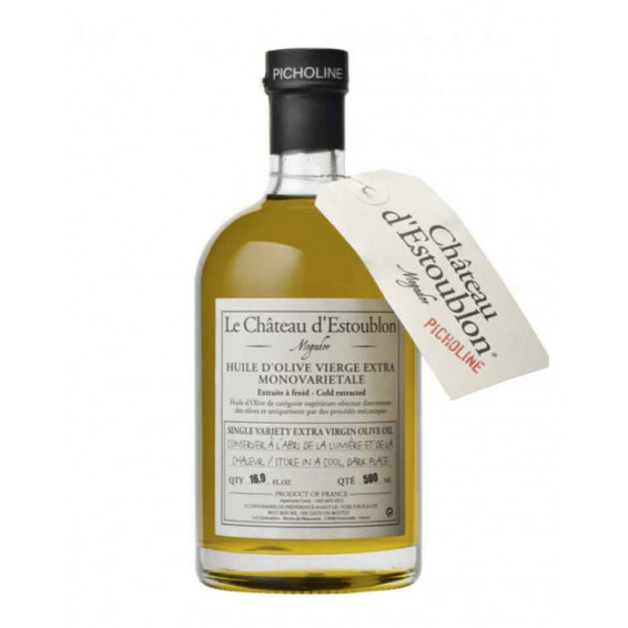 Bouteille apothicaire huile olive vierge extra picholine