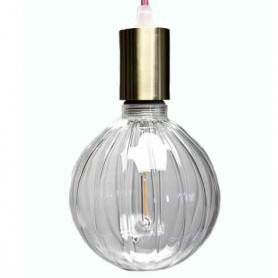 Ampoule LED claire striée 125mm