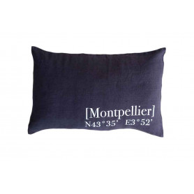 Coussin Montpellier gris