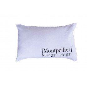 Coussin Montpellier blanc