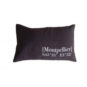 Coussin Montpellier charbon