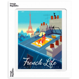 Affiche Monsieur Z French life 40x50cm