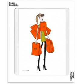 Affiche Soledad sac orange 30x40cm