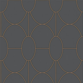Papier peint riviera anthracite Cole and son