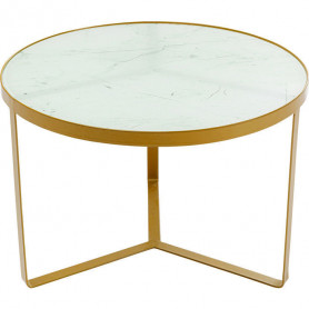 Table d'appoint marbre blanc