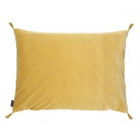 Coussin velours smooth paille