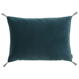 Coussin velours smooth paon