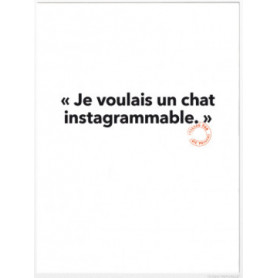Carte postale Chat Instagrammable