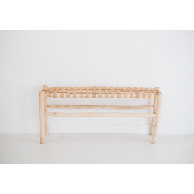 Banc beldi assise cuir naturel