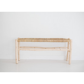 Banc beldi assise tressage naturel